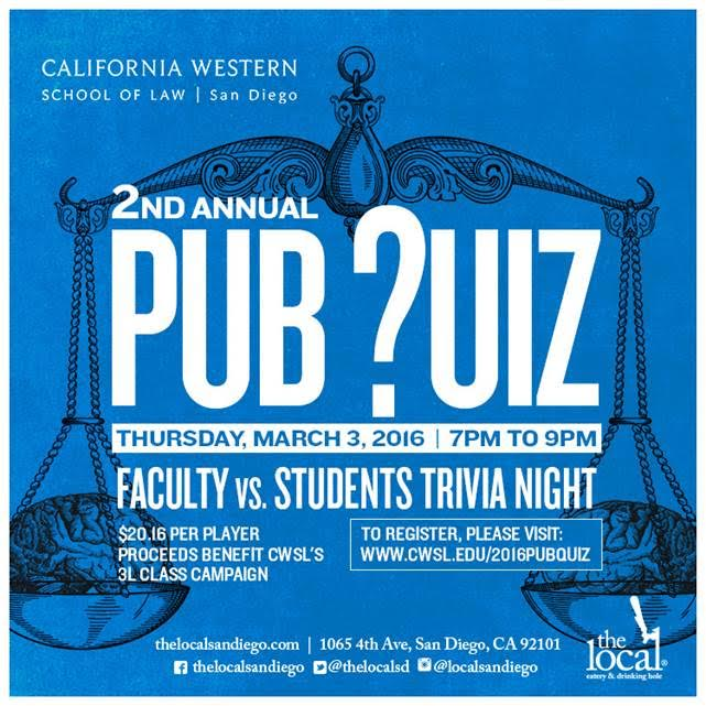 Don't Forget to Sign Up for the Pub Quiz